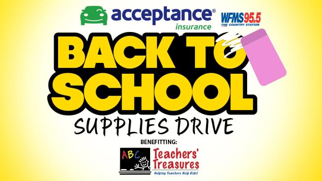 Acceptance Insurance Back to School Supplies Drive!