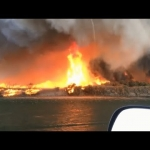 Extreme Weather! Crazy Firenado & Huge Water Spout In California!