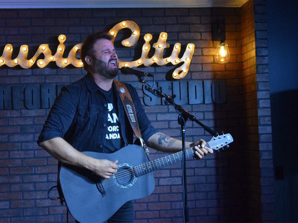 "Watch Randy Houser's Heartfelt Performance of a New Song He Wrote for His Wife, ""Our Hearts"""