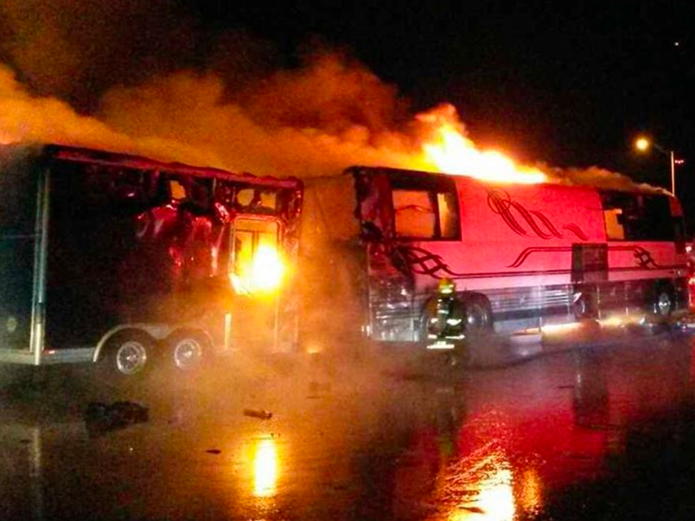 Eli Young Band's Tour Bus Catches Fire & Burns, Everyone Is OK