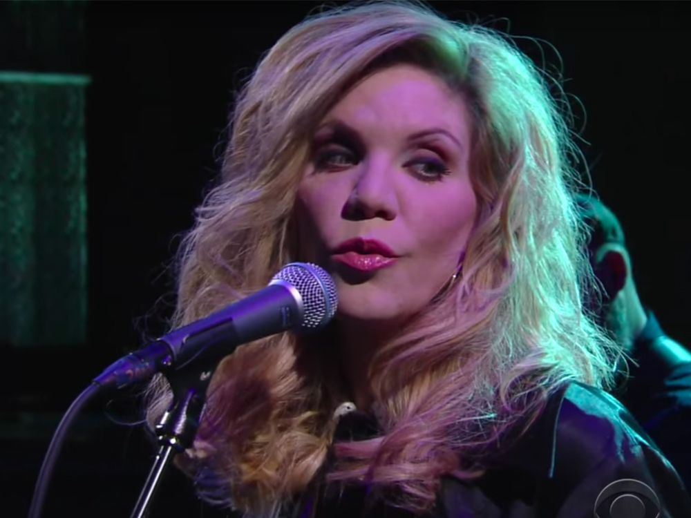 "Watch Alison Krauss Cover Willie Nelson's ""I Never Cared for You"" on ""Stephen Colbert"""