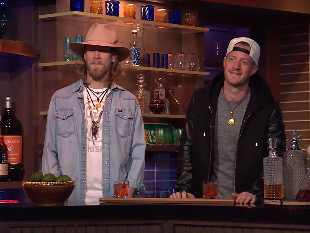 Florida Georgia Line's Brian Kelley and Tyler Hubbard Play Bartenders on Late Night TV Show