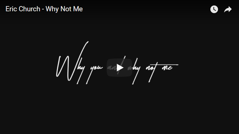 Eric Church Releases Lyric Video for Vegas Song Why Not Me