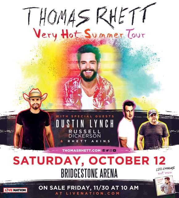 "Thomas Rhett's ""Very Hot Summer"" Tour!"