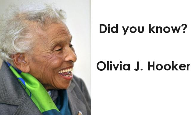 Little Known Black History Fact: Olivia J. Hooker