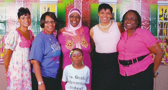 These lovely ladies are all part of the Sister's Network organization in Lumberton, NC. The work hard educating African-American women about breast cancer. — (2010) with  Irene Thornhill-Stuart (RIP) , IVeronica McNair, Nahdiyyah Jarnagin, and Vivan Bethea