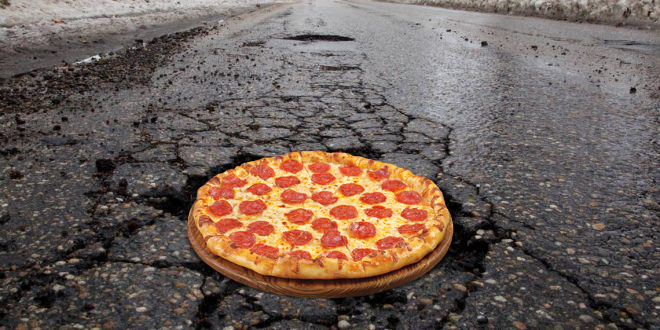 HOW A PIZZA MAKER IS GOING TO FIX POTHOLES