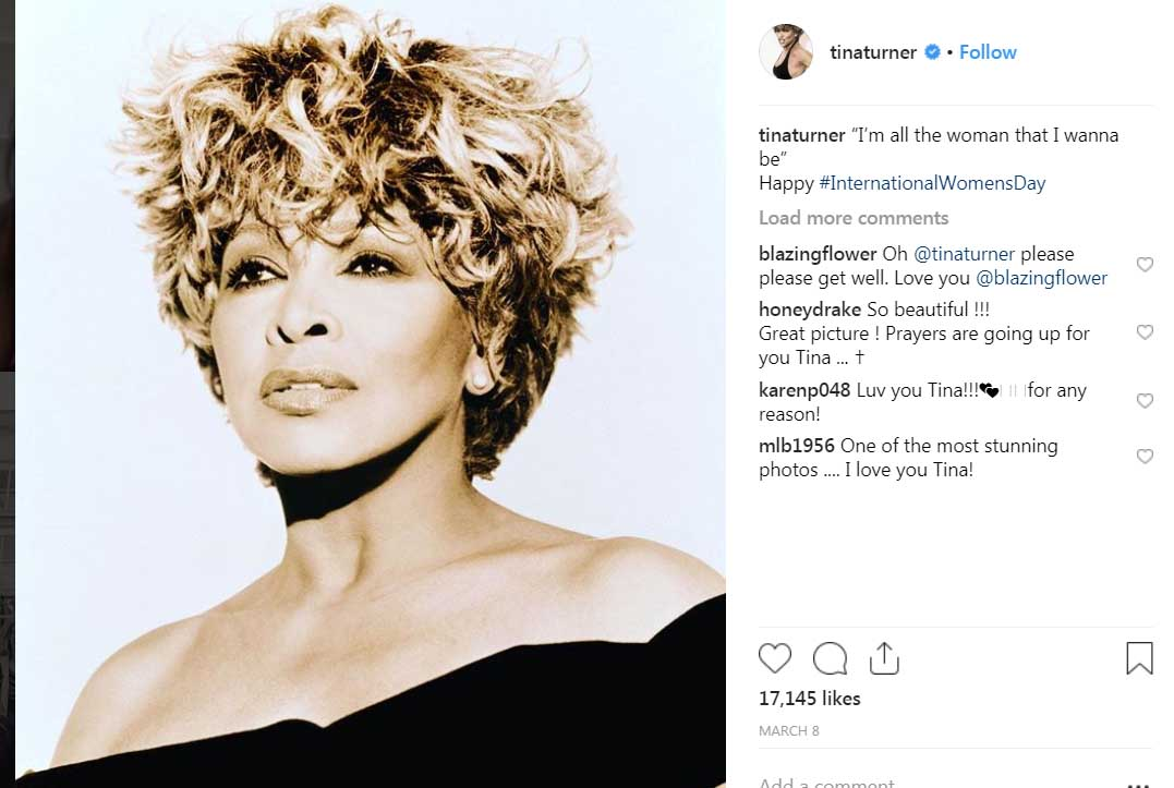 Tina Turner : Reportedly fighting stomach cancer