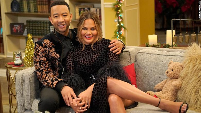 Someone really needs to get working on a John Legend and Chrissy Teigen sitcom.