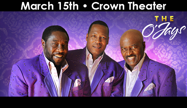 """Community Concerts proudly presents The O'Jays --  the group that brought you such soulful hits as """"Love Train"""", """"Put Your Hands Together"""", """"For The Love of Money"""" – live in concert on Friday, March 15, 2019!     Tickets are on sale now and can be purchased online at CapeFearTix.com, by phone at 888-257-6208, and in person at the Crown Complex Box Office & Leisure Travel Services located on Fort Bragg.  The O'Jays are touring history, a connection to an era and a sound that formed the soundtrack for the lives of several generations. The O'Jays are still hitting the road with the same electrifying energy they've had for over 50 years.  Walter Williams and Eddie Levert first met when they were the ages of 6 and 7 respectively. As teenagers in Canton, Ohio, they formed a band originally consisting of Eddie Levert, Walter Williams, William Powell, Bobby Massey and Bill Isles. In 1963, the band took the name """"The O'Jays"""" in tribute to Cleveland radio disc jockey Eddie O'Jay. Several members have changed, but the core, original lead singers Eddie Levert and Walter Williams, continue to front the group.  In 1972, Gamble & Huff, a team of producers and songwriters with whom the O'Jays had been working for several years, signed the group to their Philadelphia International label. With this magic formula, often called The Sound of Philadelphia, The O'Jays scored the first number 1 and million-seller, """"Backstabbers."""" Subsequently, they succeeded with various chart-topping pop and R&B singles including """"Love Train"""", """"Put Your Hands Together"""", """"For The Love of Money"""", """"I Love Music"""", """"Darlin' Darlin' Baby (Sweet, Tender, Love)"""", """"Livin' For The Weekend"""" and""""Use Ta Be My Girl."""" This success propelled The O'Jays to be the first black vocal group to perform in arenas throughout America during the 70s and 80s.  The O'Jays were inducted into the Rock & Roll Hall of Fame in 2005. They were inducted into the Vocal Group Hall of Fame in 2005 and honored with BET's Life Time Achievement """