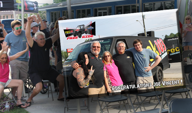 ROCK 103 FREE RIDE 2018: We have a winner!!!