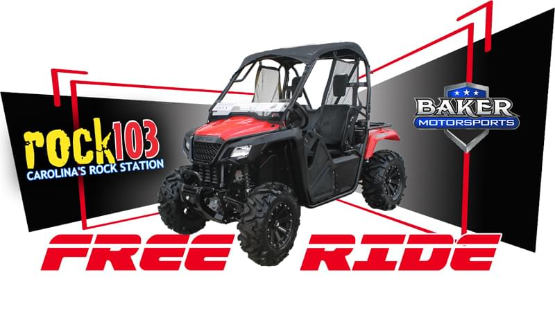 THIS YEAR WE HAVE TEAMED UP WITH BAKER MOTORSPORTS ON SYCAMORE DAIRY ROAD TO GIVE AWAY A 2018 HONDA PIONEER SIDE BY SIDE!