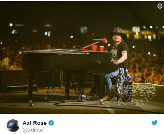 Axl was NOT letting a little flu stop him…