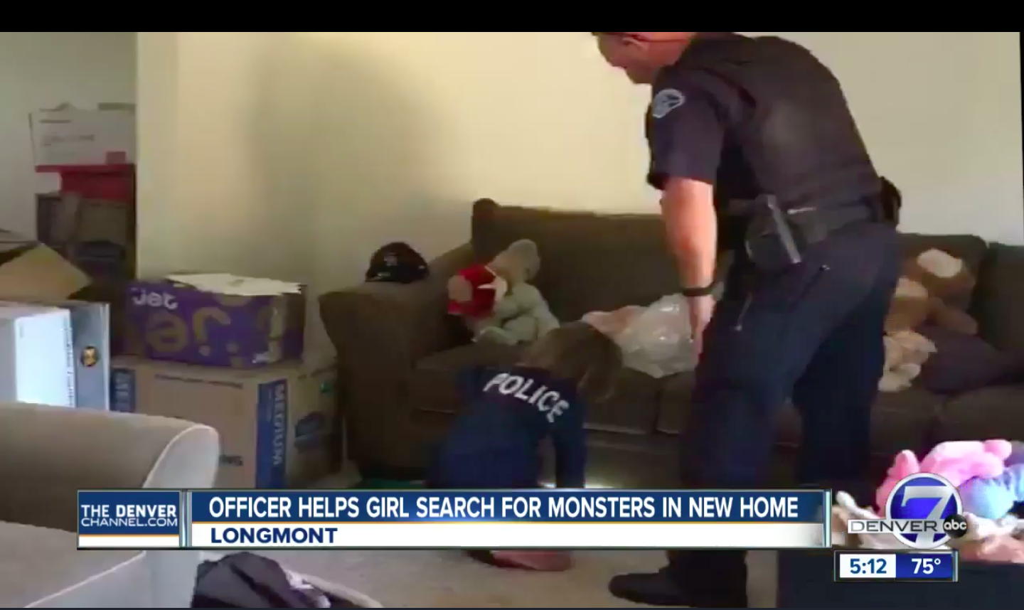 Police Officer Helps 4 Year Old Search For Monster