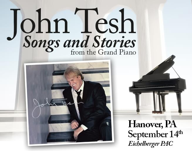 John Tesh at the Eichelberger Performing Arts Center – Sept 14