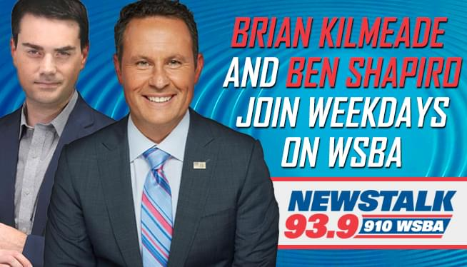 Brian Kilmeade and Ben Shapiro Join the WSBA Weekday Lineup
