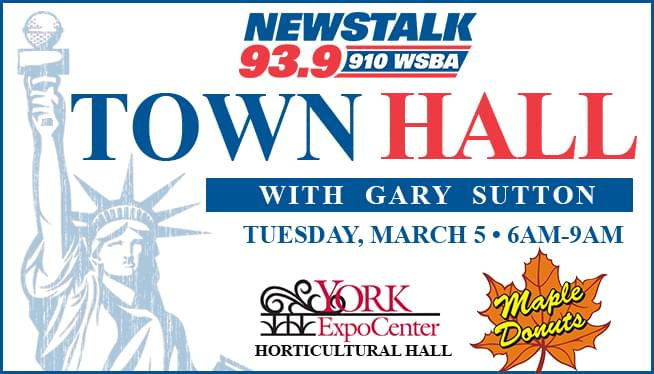 Join us for a Town Hall with Gary Sutton on March 5th from 6am-9am