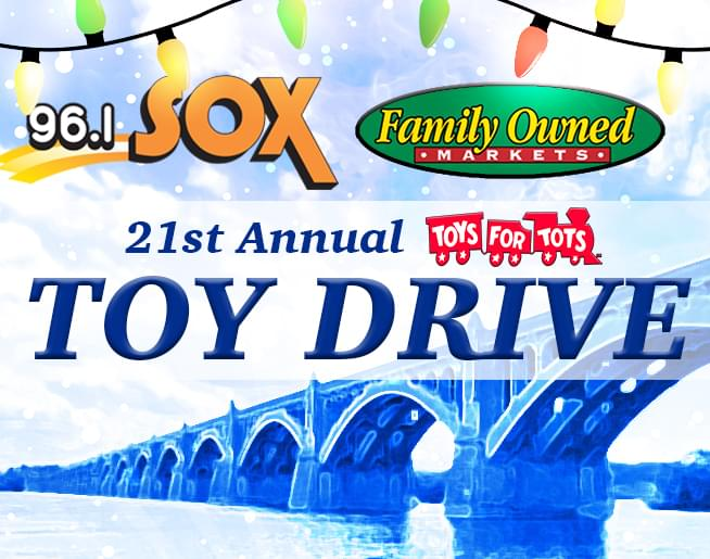 Support the 96.1 SOX Toys for Tots Drive