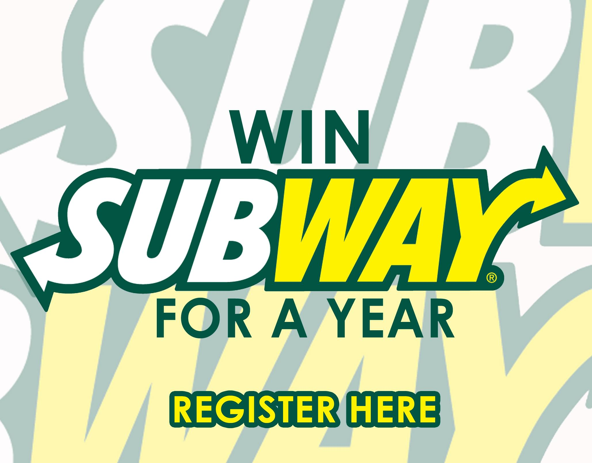 Win Subway for a YEAR!