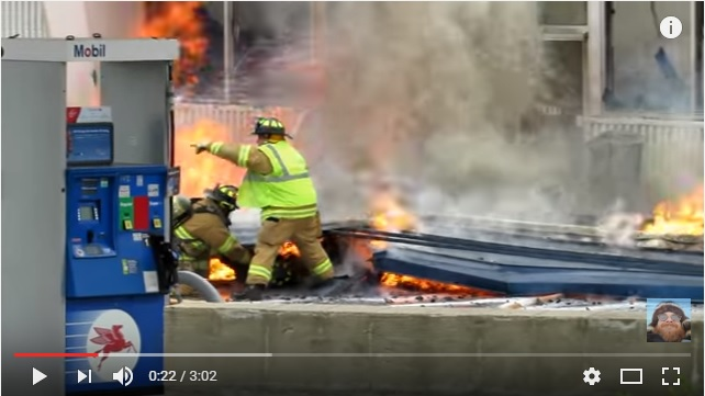 Michigan Firefighter Trapped Under Burning Building