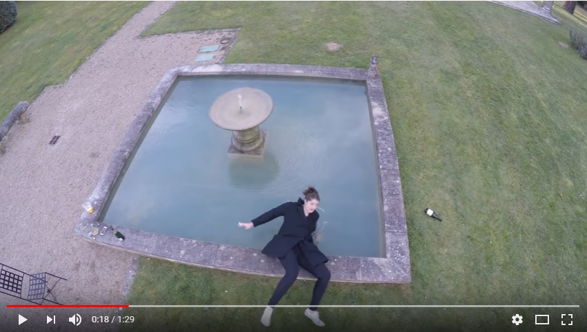 Woman Falls In Fountain Posing For A Drone