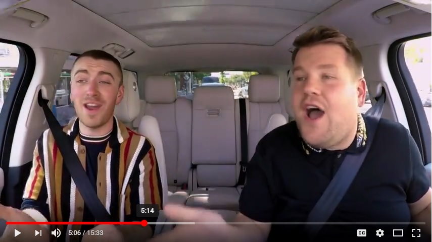 James Corden, Carpool Karaoke with Sam Smith