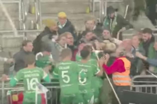 Soccer Player Chugs Beer