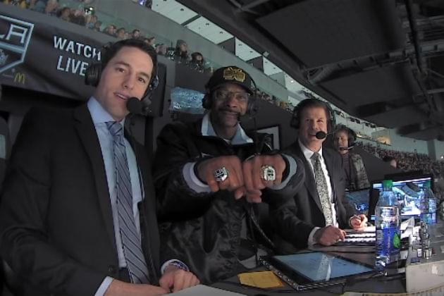 Snoop Dogg Was in the Broadcast Booth For an NHL Game and It Was Awesome [VIDEO]