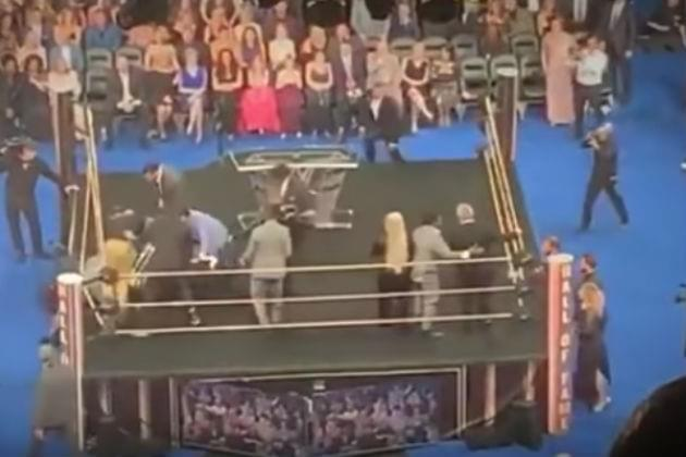 Watch Bret 'The Hitman' Hart Get Attacked During WWE Hall of Fame Ceremony [VIDEO]