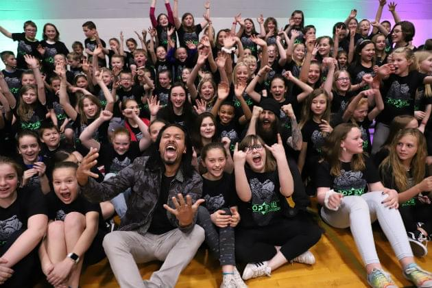Pop Evil Comes to Freeland to Surprise Powley Street Singers [PHOTOS]