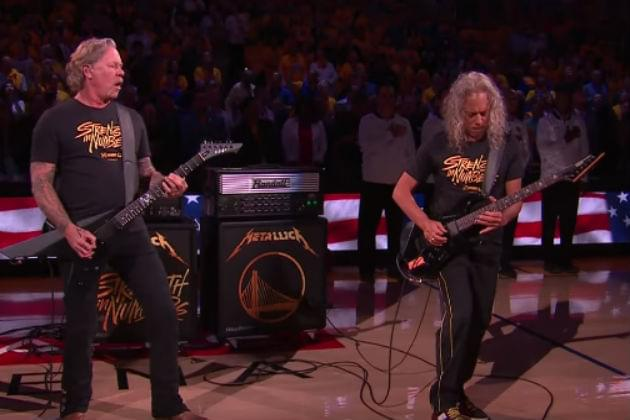 Watch Metallica Perform the National Anthem Before Game Three of the NBA Finals [VIDEO]