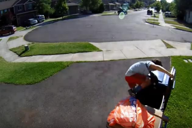 Kid Jumps In Trash Can