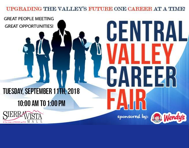 September 11, 2018 Central Valley Career Fair
