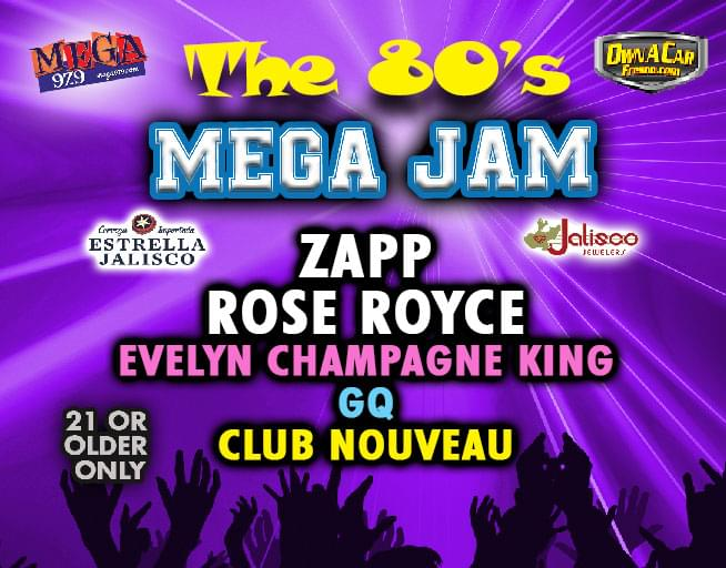 September 20:  The 80's Mega Jam