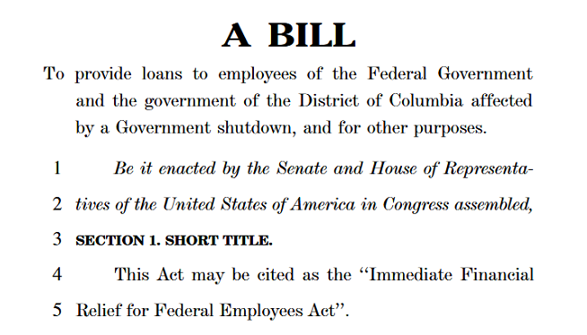 Valley Congressmen Propose Interest-Free Loans For Federal Employees