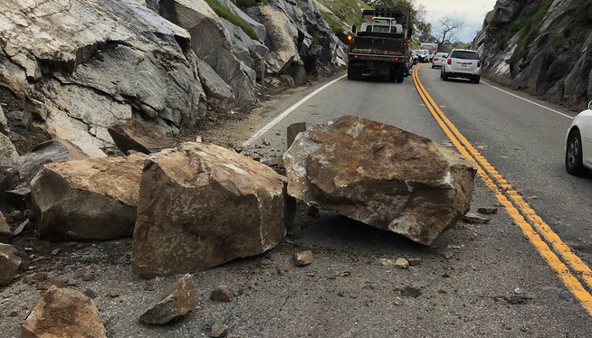 Madera County Highway 41 Open Again After Rock Slide