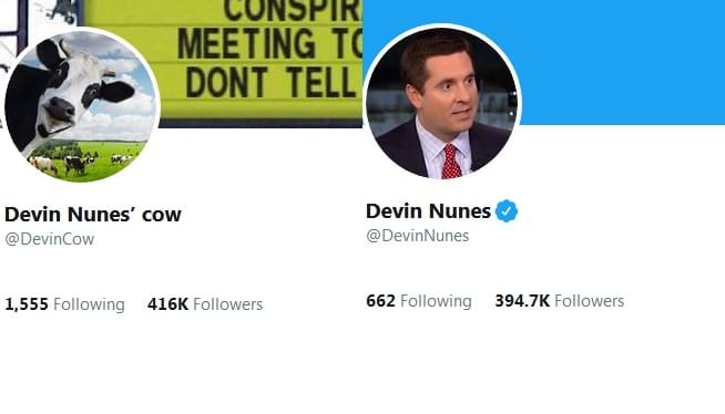 @DevinCow Now Has More Twitter Followers Than @DevinNunes