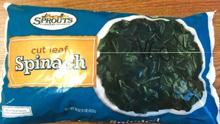 Sprouts Farmers Market Recalls Spinach Due to Deadly Listeria