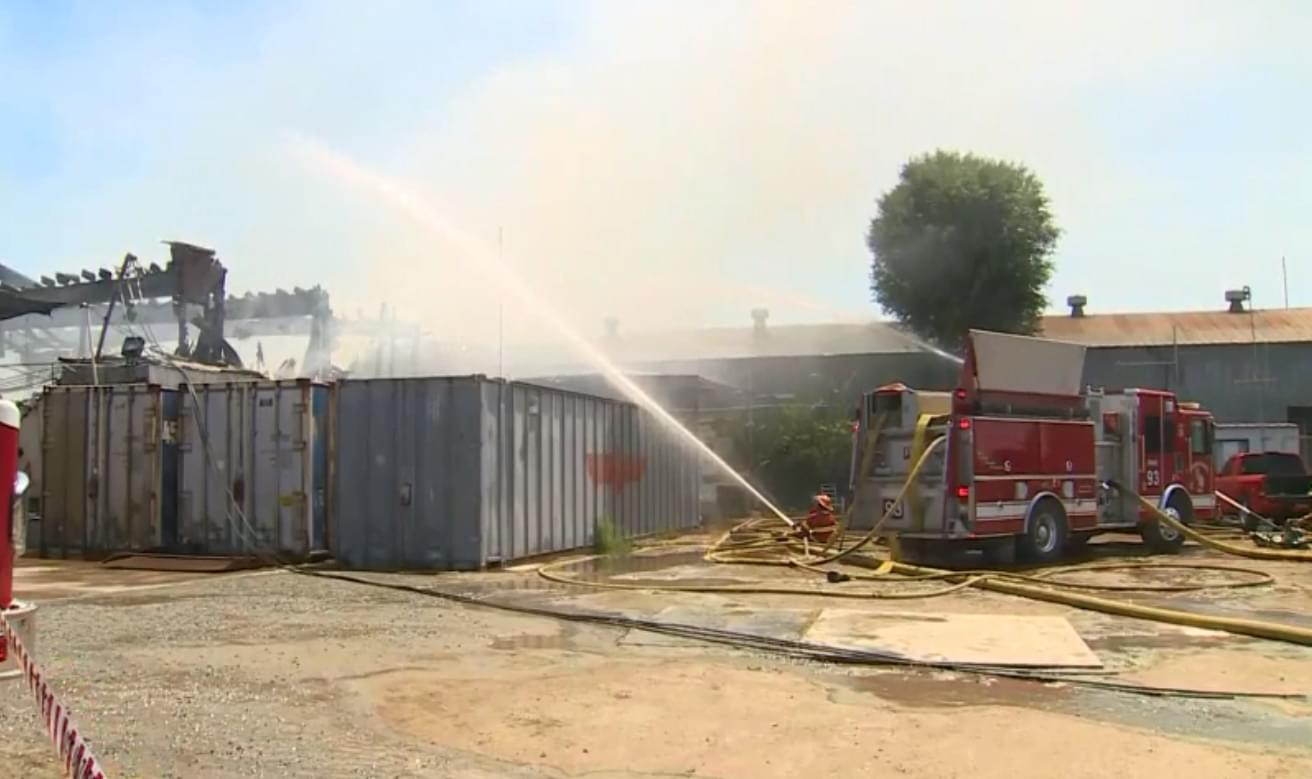 Packing House Catches Fire in Huron