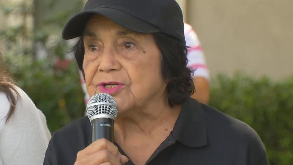 Huerta, Seven Others Arrested at Fresno SEIU Protest