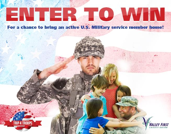 Share Your Story and win a Trip for Troops!