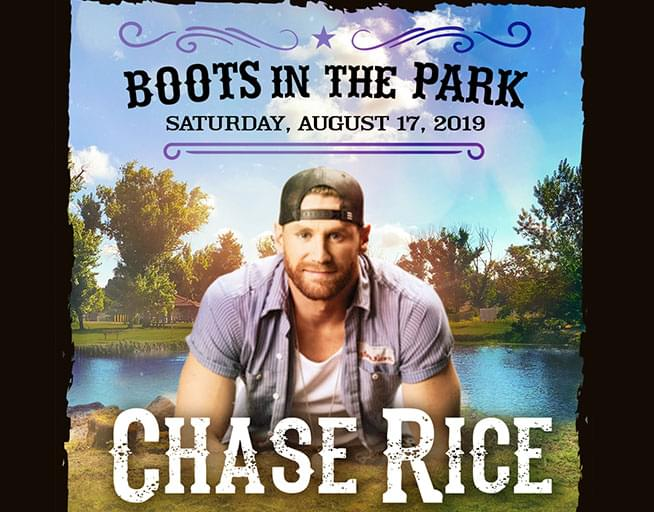 August 17: Boots in the Park- Chase Rice