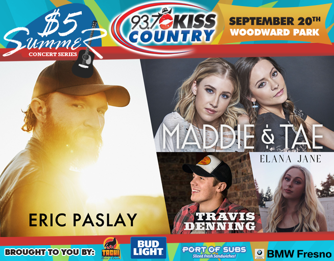 September 20: Fifth Kiss Country $5 Summer Concert 2018