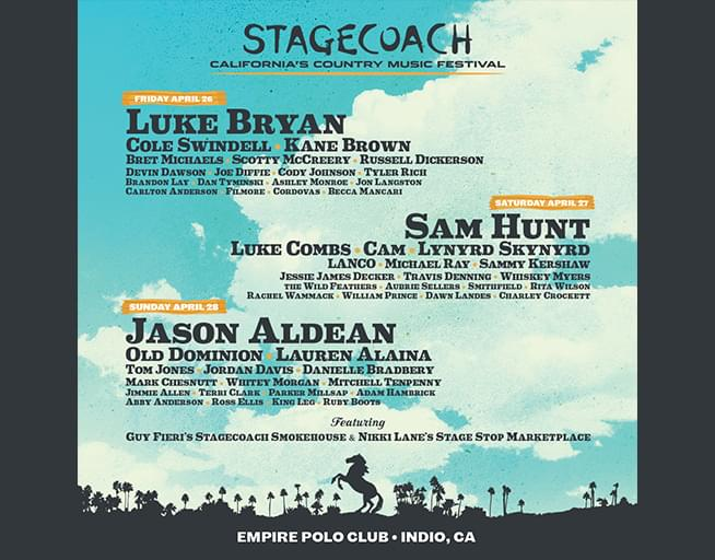 Win tickets to the Stagecoach Festival before they go on sale!