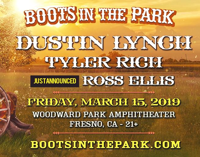 March 15: Boots in the Park- Dustin Lynch