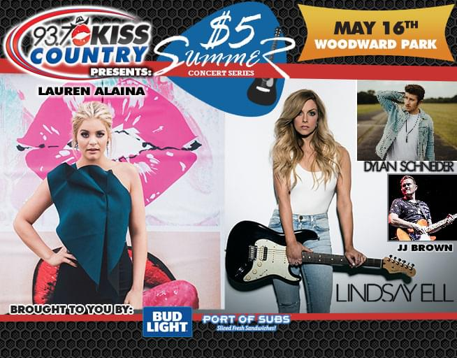 May 16: First Kiss Country $5 Summer Concert 2019