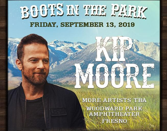 September  13: Boots in the Park- Kip Moore