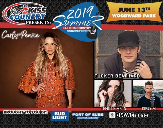 June 13: Second Kiss Country Summer Concert 2019