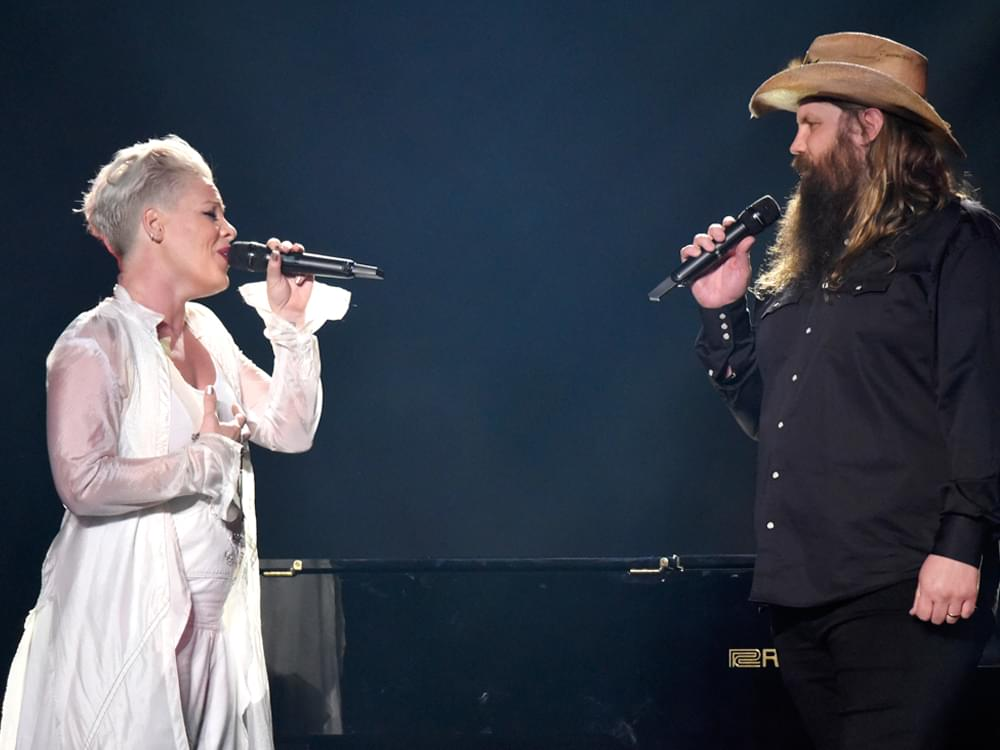 """40d4cd9cf36f4 Filed Under  NCD News · Watch Pink   Chris Stapleton s Live Debut of """"Love  Me Anyway"""" at Madison Square"""