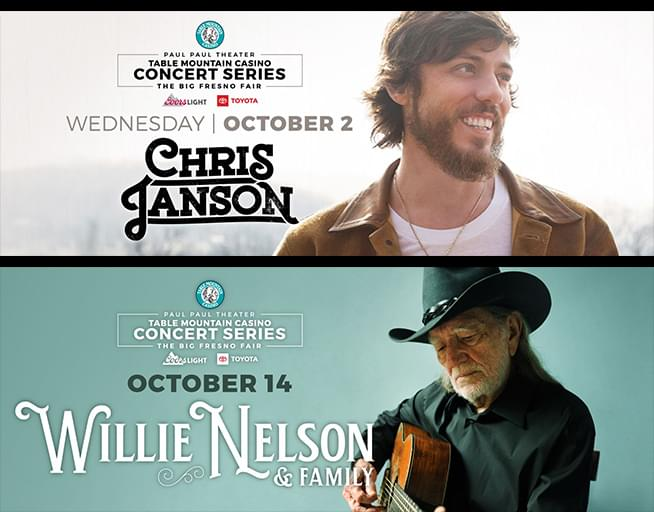 Listen to Win Tickets to Chris Janson and Willie Nelson!